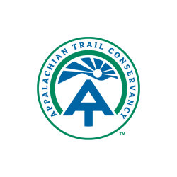Appalachian Trail Conservancy logo in black and white.