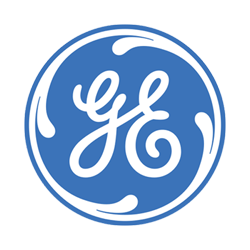 General Electric logo in black and white.