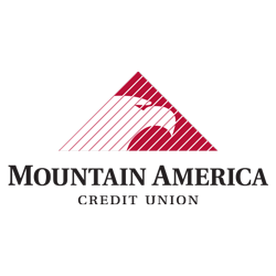 Mountain America Credit Union logo in black and white.
